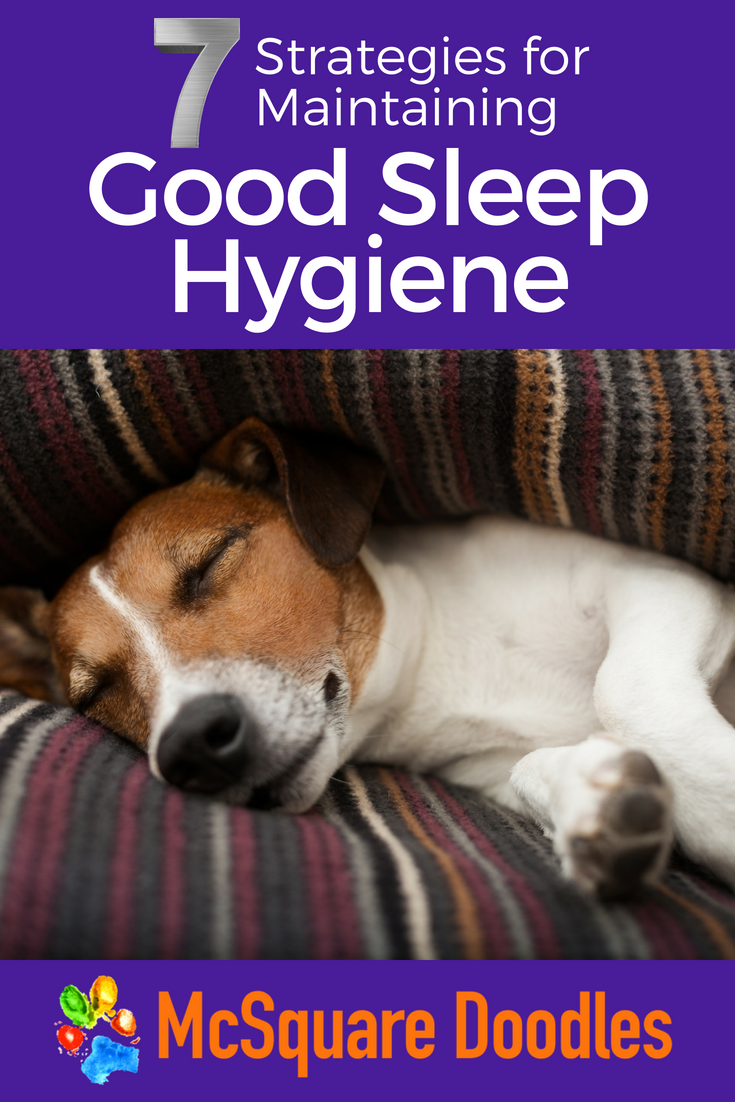 Transforming into a morning person was a change I thought I'd never experience. But with two pups needing daily walks in the summer Arizona heat, waking up early was no longer an option. Read more about the seven strategies I used regularly to help me maintain a good sleep schedule. #sleephygiene #sleephygieneideas #goodsleep