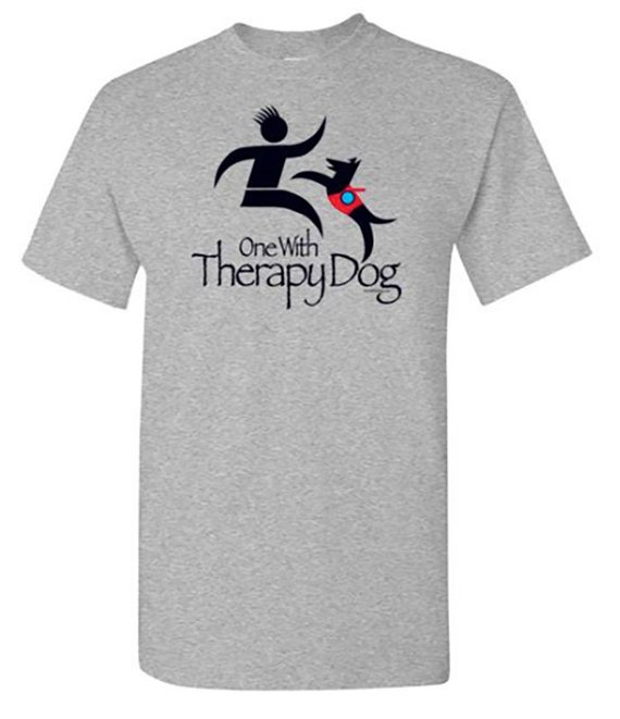 Shop these 9 unique gift ideas for therapy dog teams. If you've been trying to think of a way to say thank you to the pup who shares unconditional love, these gifts will make him stand out as the hero he is. #McSquareDoodles #therapydog #dogbandana #dogtshirt #giftideas #giftguide