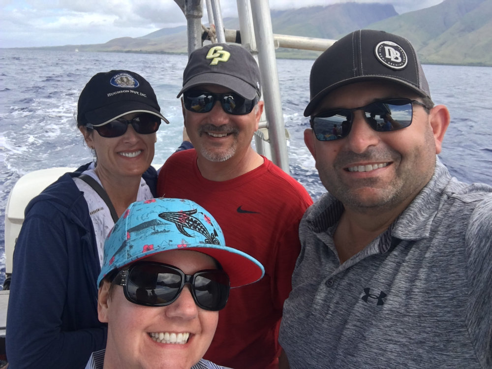 Whale watching with Karyn, Tony and Leroy