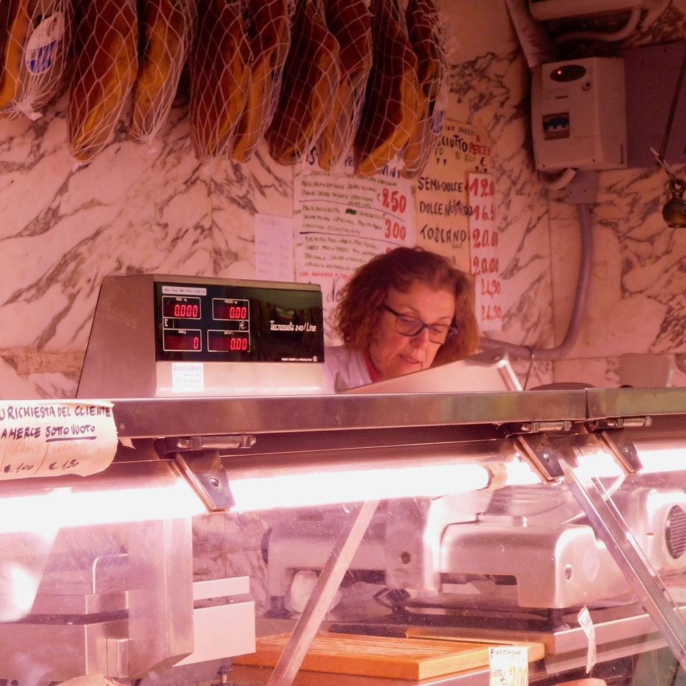 Woman Behind the Counter