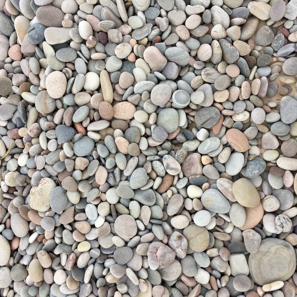 The beautiful rocks on Findhorn Beach, Scotland