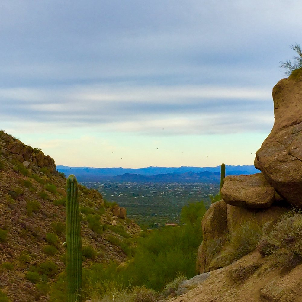 View form the trail on a hike with my dad. Scottsdale, AZ.