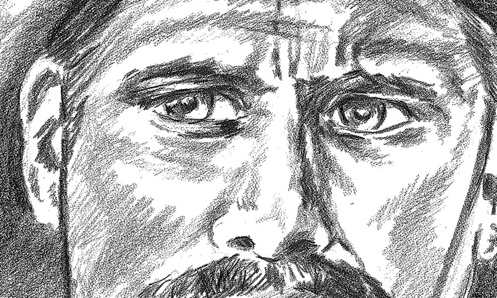 Appaloosa  [ detail ]. Pencil sketch by Gary Perrone.
