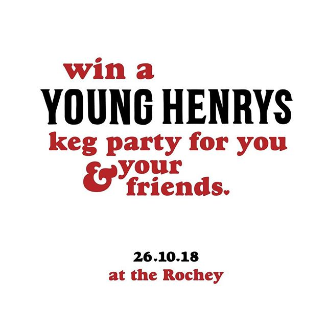 As part of the celebrations Friday night at the Rochey we'll be running a raffle with a dear friends Young Henrys and the prize is a doozy... *drum roll* Winner gets their very own Keg of Young Henrys beer to enjoy another night of their choosing at the Rochey.* Tickets will be on sale 6-8 and to help get everyone excited we'll be running Young Henrys drink specials from 6 onwards. ❤️❤️❤️❤️❤️❤️❤️ TELL YOUR FRIENDS YOU LOVE THEM • • @therochey @younghenrys  #tellyourfriendsyoulovethem #younghenrys #therochey #friendship #cheerstoyou #celebrationoffriendship