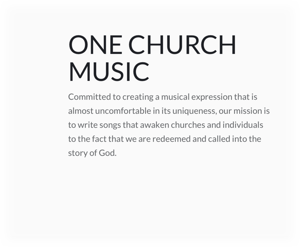 one Church music card.png