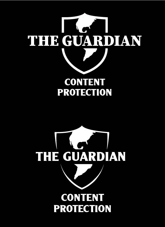 Website Logo - Designed logo for Universal Music Group's Content Protection Portal called The Guardian. Portal is utilized by relevant departments across all UMG-owned labels. (Bottom logo was the final design)