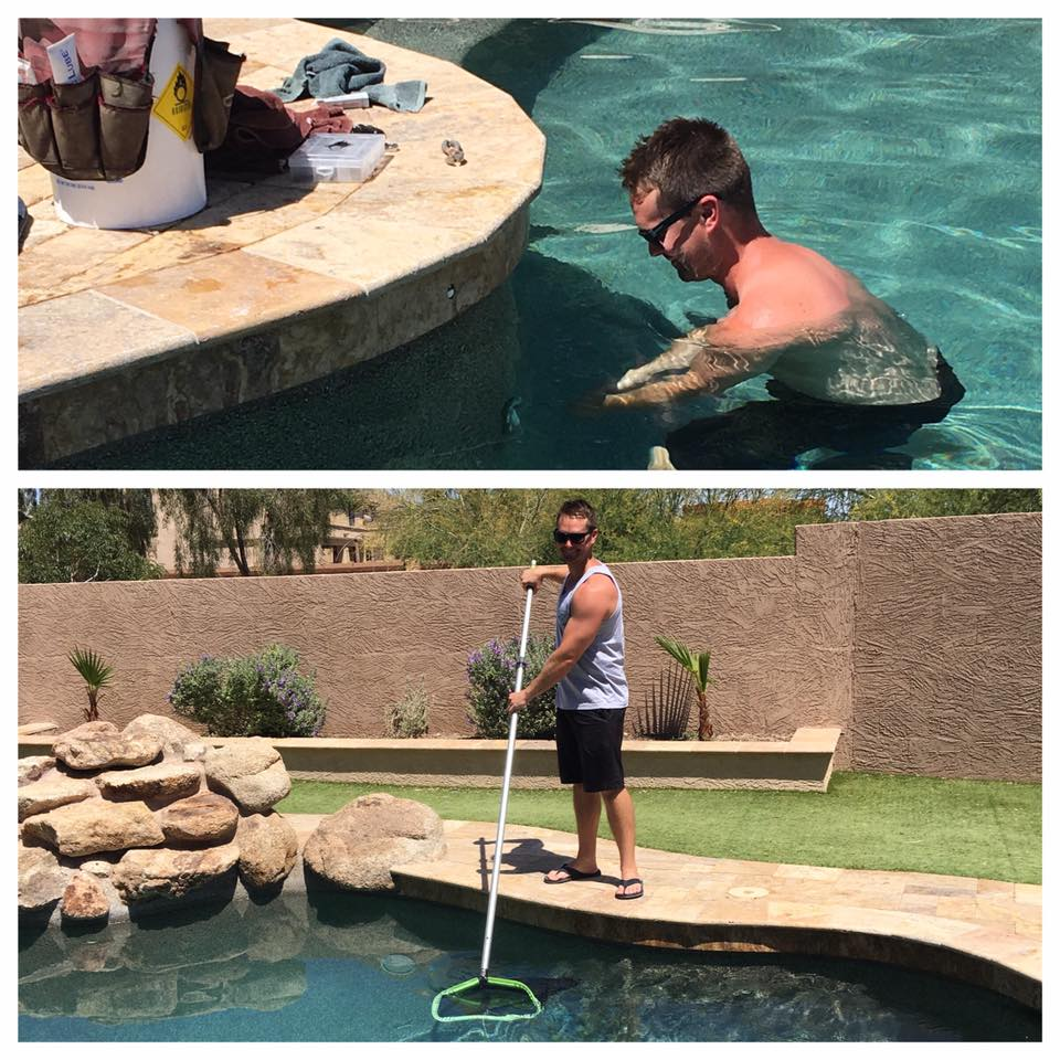 Hi I'm Chris - Over 12 years experience with residential and municipal pools,Certified Pool OperatorCertified Aquatic Facility OperatorCertified by SRP and APS to install and calibrate variable speed pumps.ReliableExperiencedAffordable- Save $20-$30 a month! Compared to other companies prices.