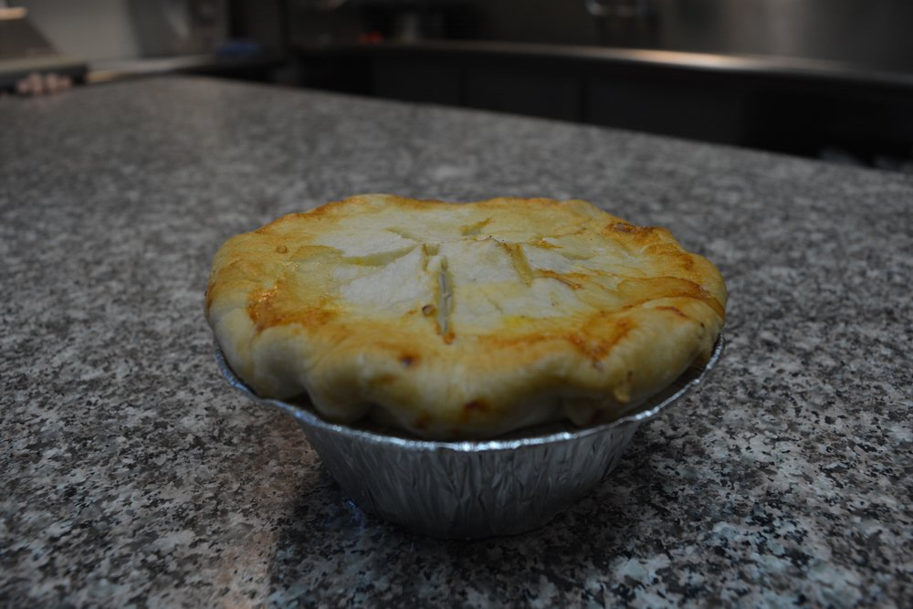 Pot Pies - Our pot pies are homemade from start to finish. With a hand-rolled crust, and fillings from scratch, be sure to try out our classic chicken, steak, and chili pot pies. Our personal sized pies are great for quick meals or try our take & bake family sized pies!