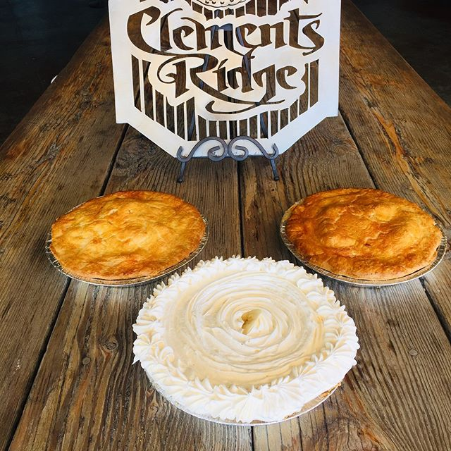 Happy National Pi Day! Let us help you celebrate. Come on in for one of our delicious pies. We have fruit pies, cream pies as well as savory pot pies. We will be open until 5 pm today.