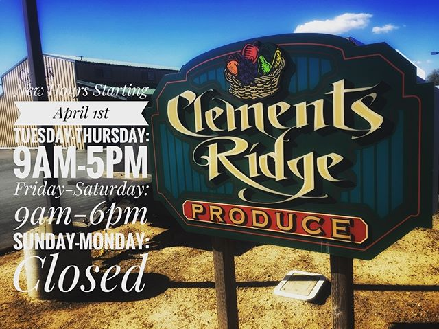 New Hours Starting April 1st