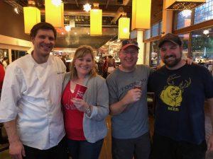 Chef Marcus and Nicole van Winden, Matt Russell & Mike Mallozzi