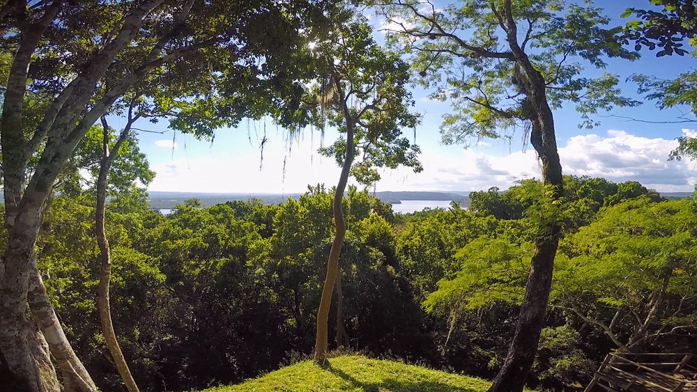 Laguna Yaxhá from a mirador (lookout).