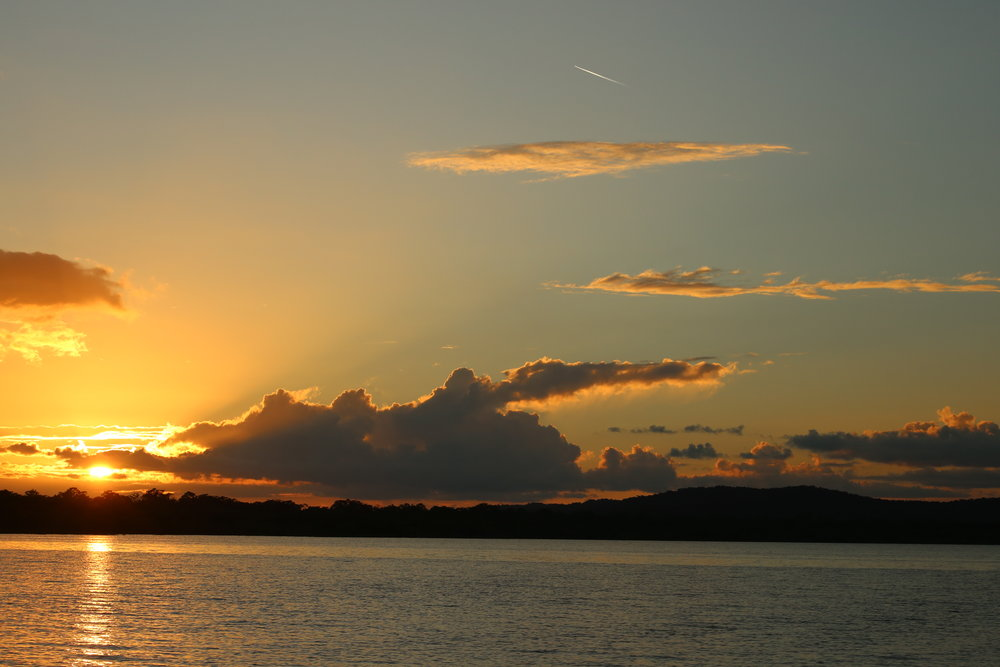 Sunset over Laguna Yaxhá.