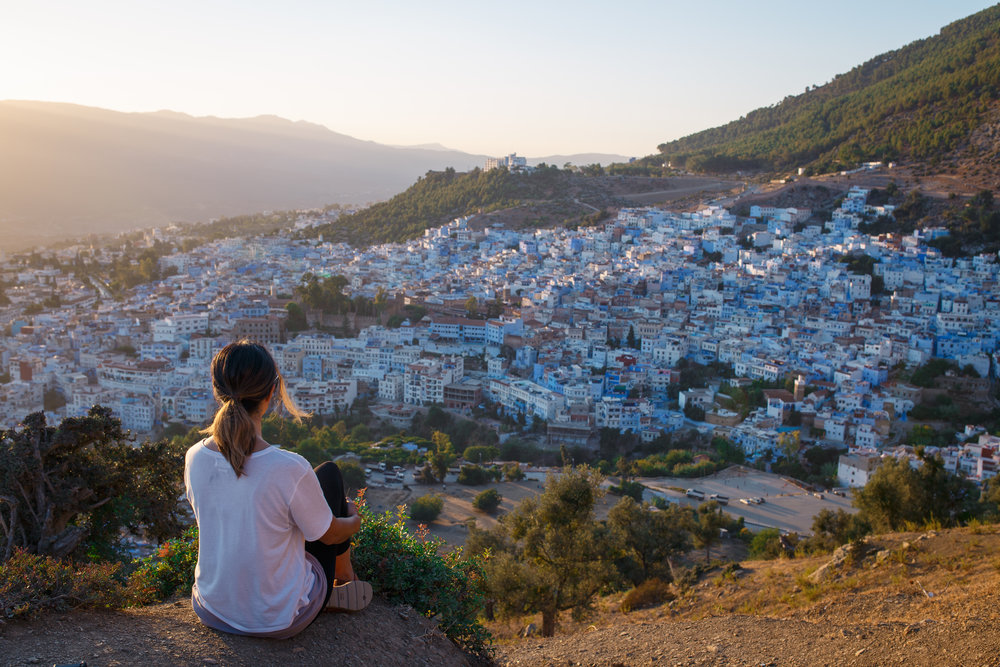 Sunset over Chefchaouen.