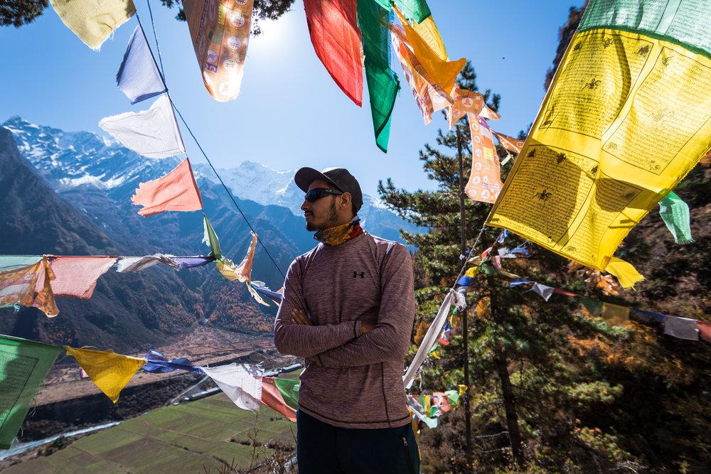 Rajat taking in the view atop Piren Phu.