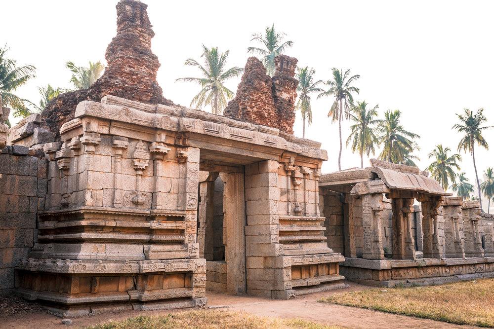 Inside the Achyutaraya Temple complex.