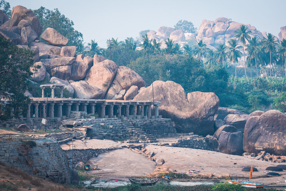 Ruins along the Tungabhadra River.