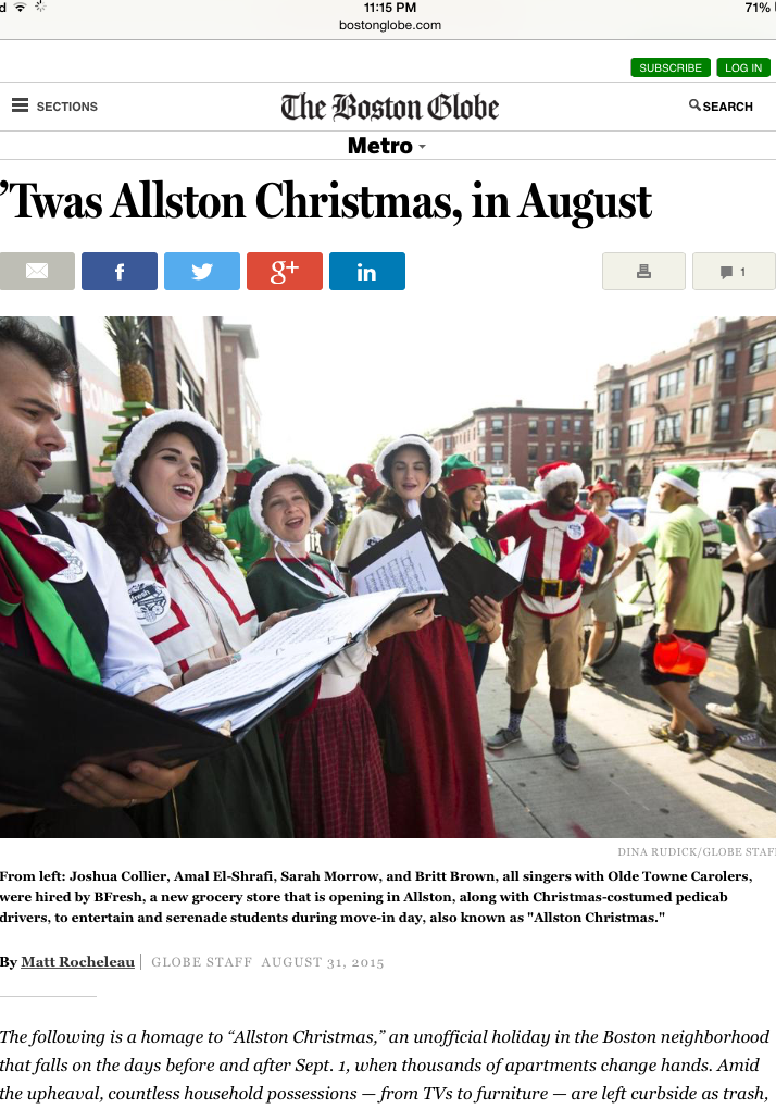We took the local Allston Christmas tradition a bit too literally and launched a bfresh store with carolers in August.   →