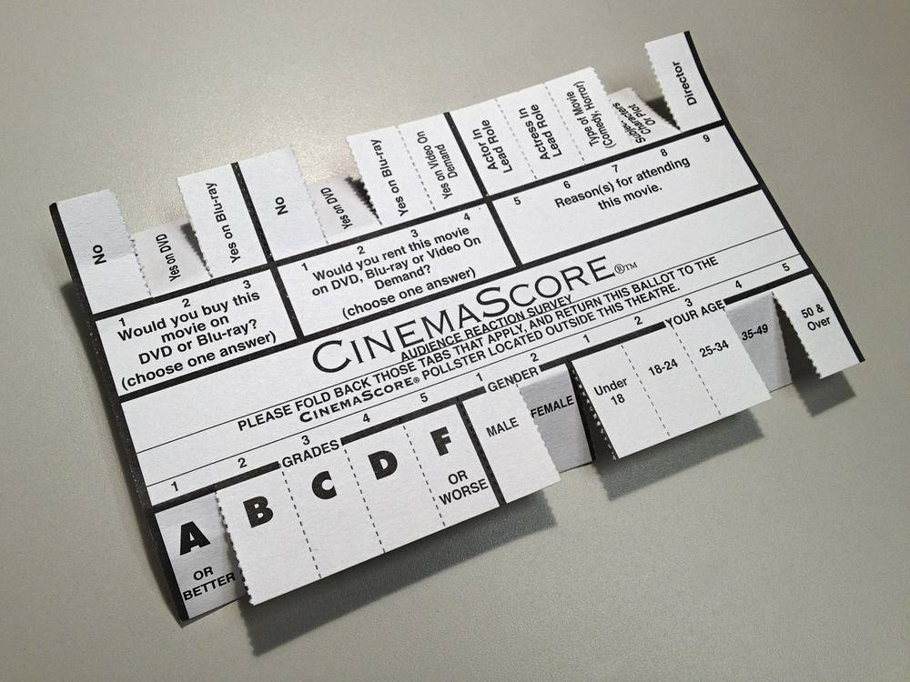 CinemaScore Ballot. Source: Las Vegas Weekly