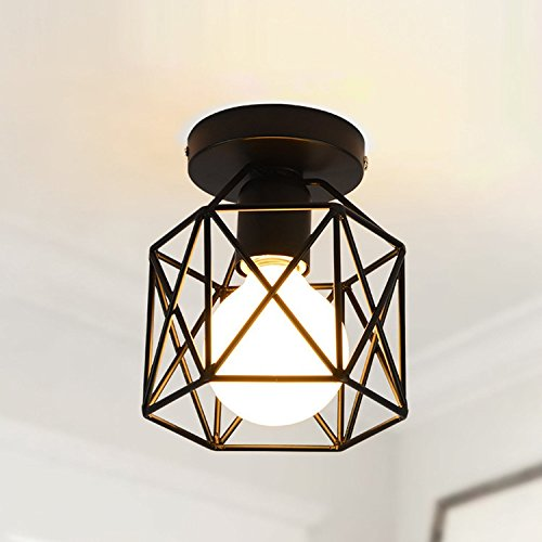 Create for Life - Retro Vintage Industrial Mini Painting Metal Rustic Flush Mount - Ceiling Light - Pendant Light