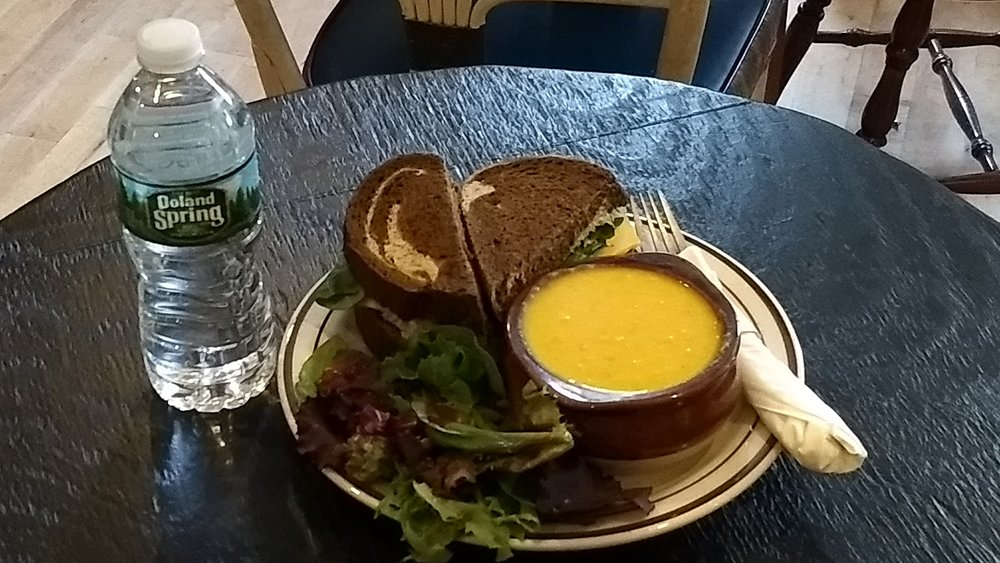 - Lunch is provided through the Armory Cafe. Get your choice of...Sandwich option: Turkey, Tuna, Brie, or Veggie/VeganSoup: Lentil or Butternut squashSalad: Mixed Greens w/ToppingsDrinks: Coffee, Tea, Soda (not craft soda), small juice