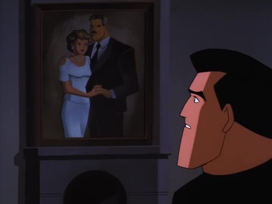 Bruce Wayne with portrait of his parents Over The Edge The New Batman Adventures