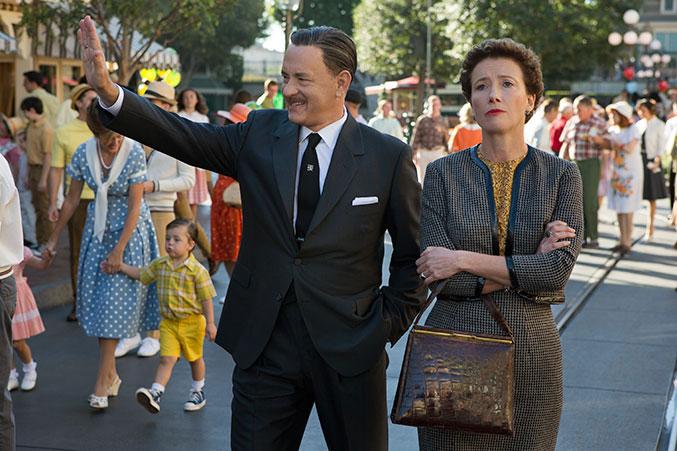 Saving Mr. Banks - Tom Hanks as Walt Disney and Emma Thompson as P.L. Travers