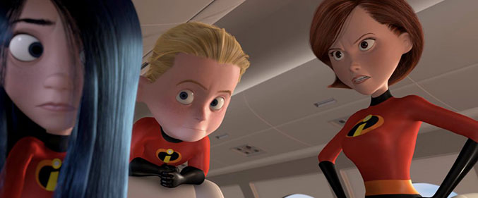 Violet, Dash, and Helen Parr from Pixars The Incredibles