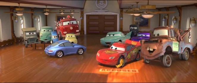 The cast of Pixar's Cars