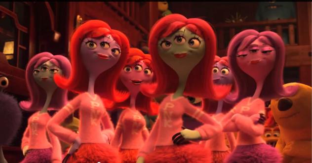 Monsters University PNK sorority girls