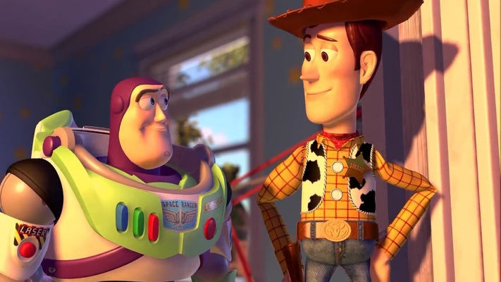 Buzz and Woody from Toy Story 2