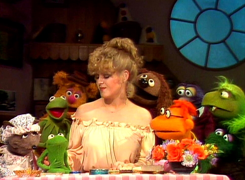 Rovin, Bernadette Peters, and the Muppets.