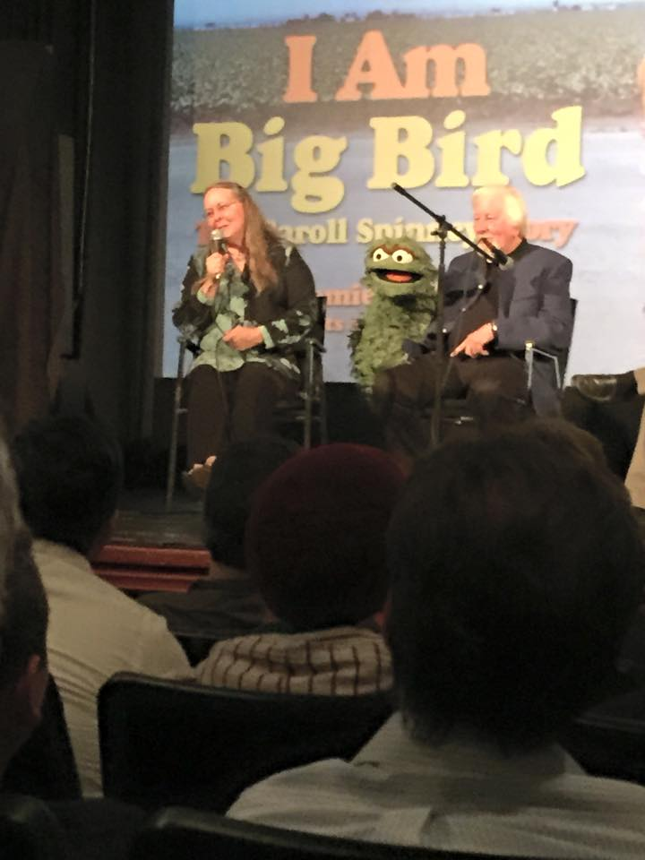 Caroll and Debre Spinney with Oscar at the Brattle Theater.