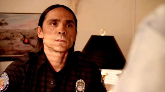 Zahn McClarnon as Mathias, chief of the tribal police.