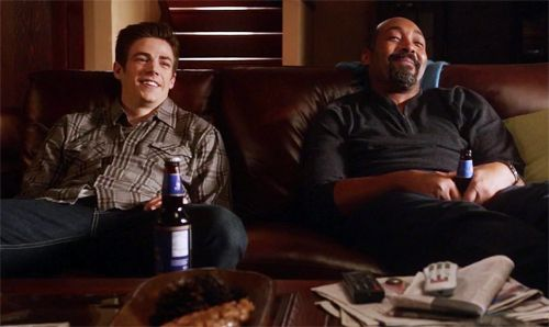 Barry and Joe, bonding.