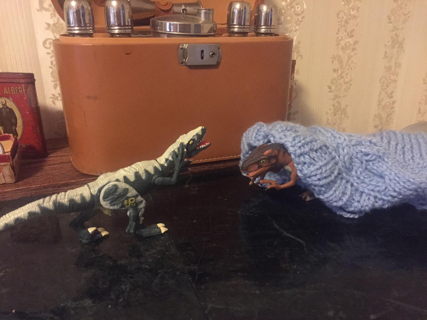 Dinosaur fashion critique.