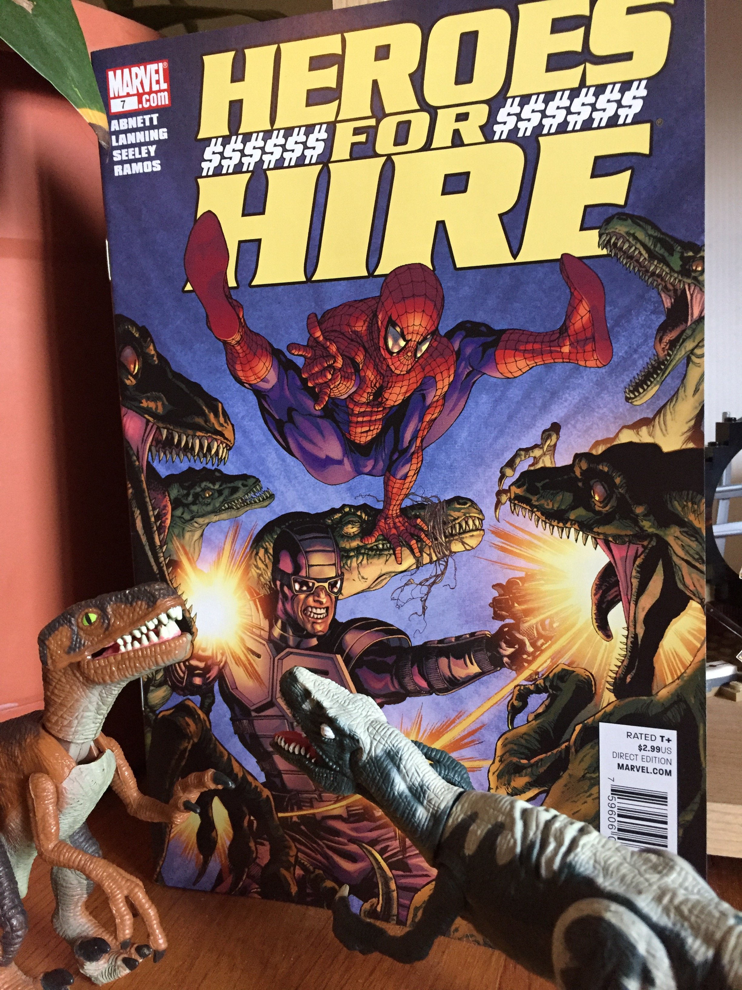 For Dinovember, the Fashion Raptors would like to bring your attention to this issue of Heroes for Hire.