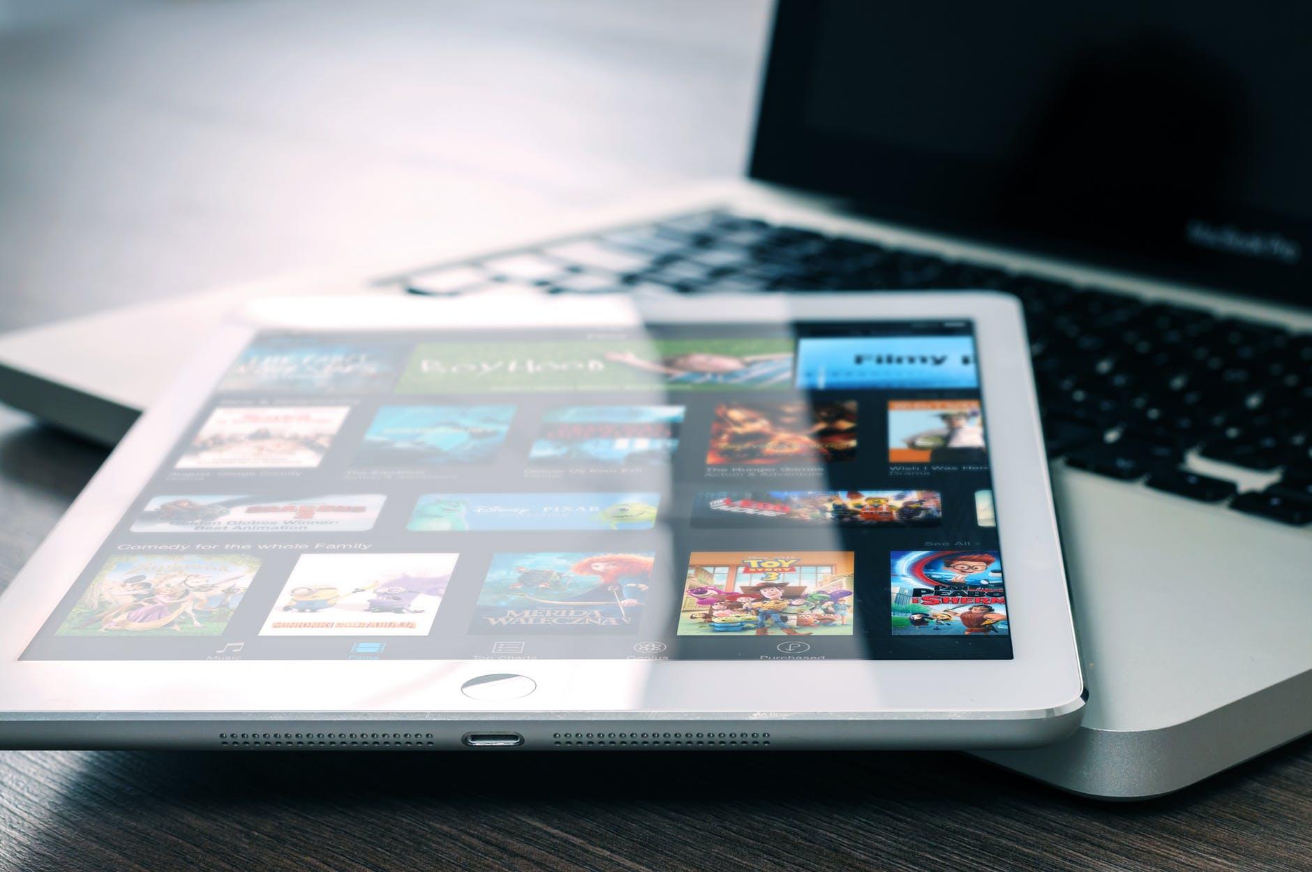 app entertainment ipad mockup