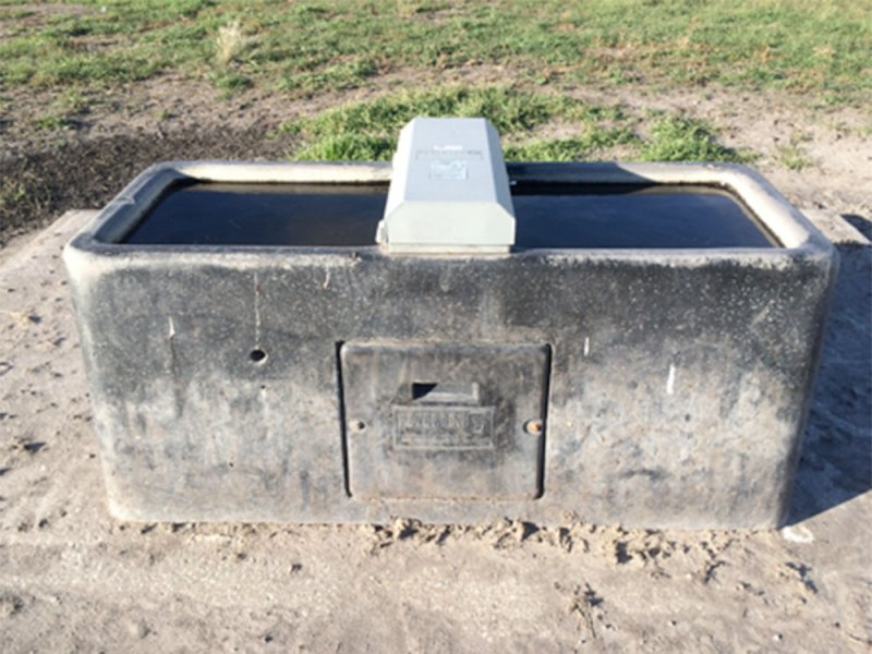 Insulated winter waterer located in Field A