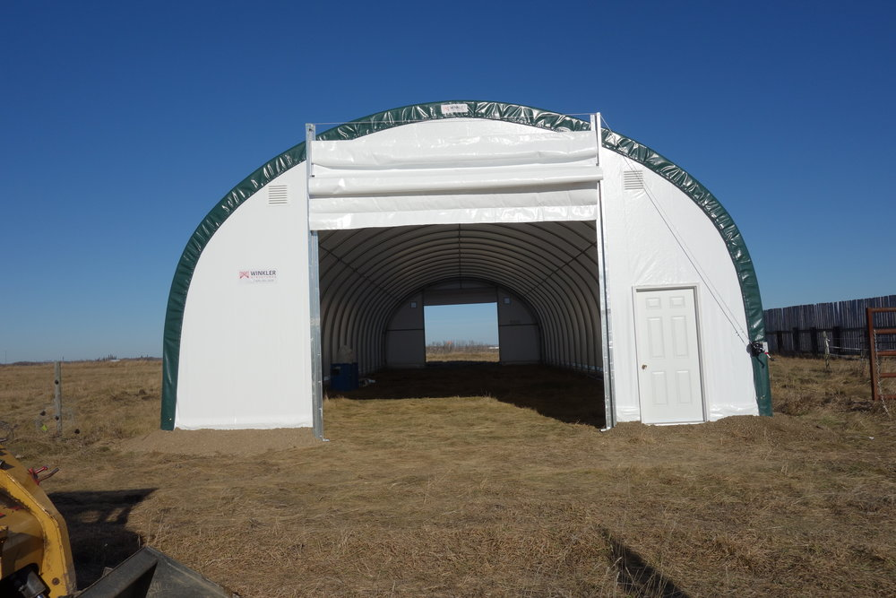 Hoop structure at Johnson Farm