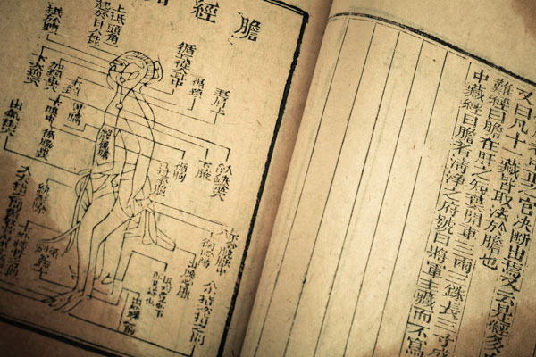 Medicine book from Qing Dynasty