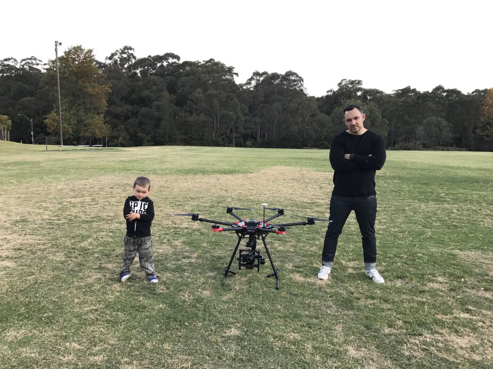 For the love of image quality. The DJI M600 drone with a DJI Ronin MX Gimbal was able to fly my Sony A7Rll camera with a full 35mm image sensor and a Zeiss 21mm Loxia.
