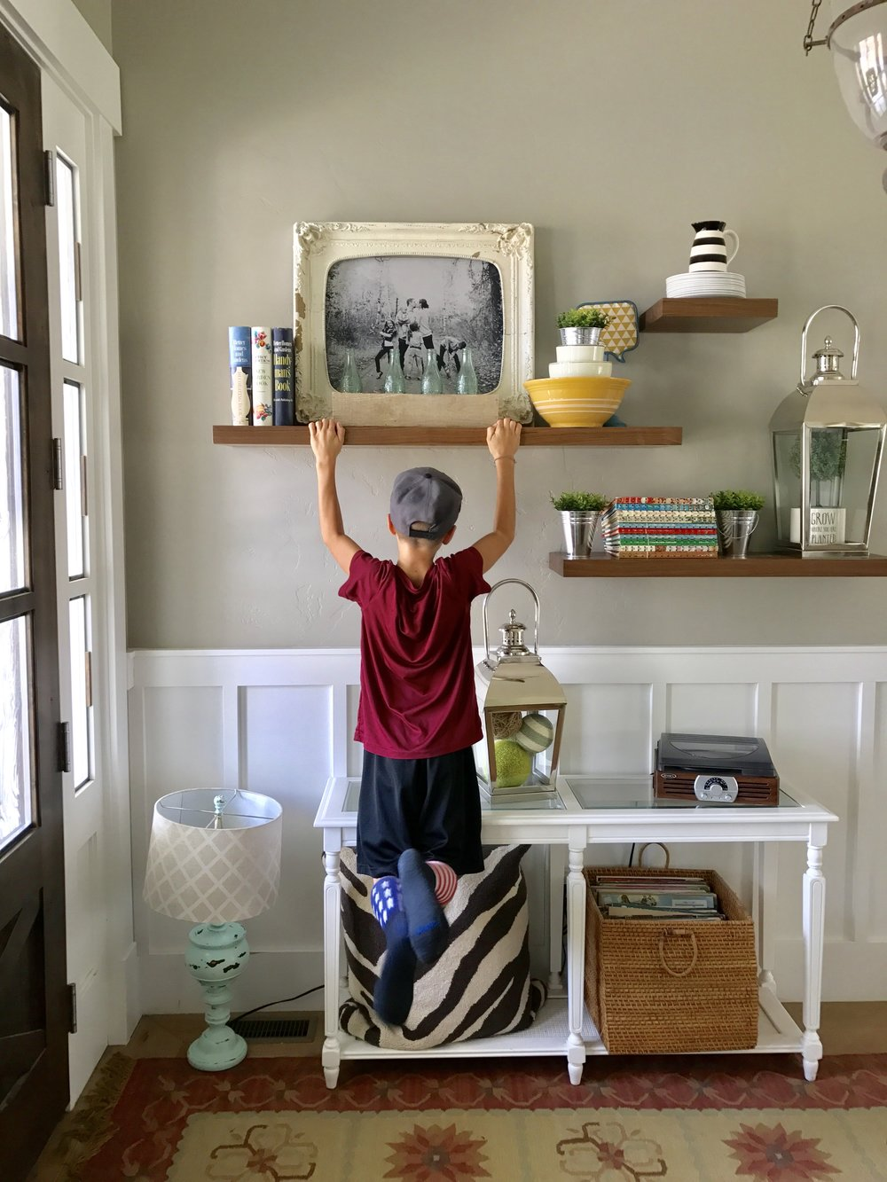 UltraShelf - This one's from us here at UltraShelf. We're not trying to brag, but our shelving is kid-proof. Well, not really, but they do support a lot of weight!