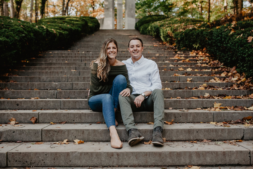 Indianapolis Engagement Holcomb Gardens