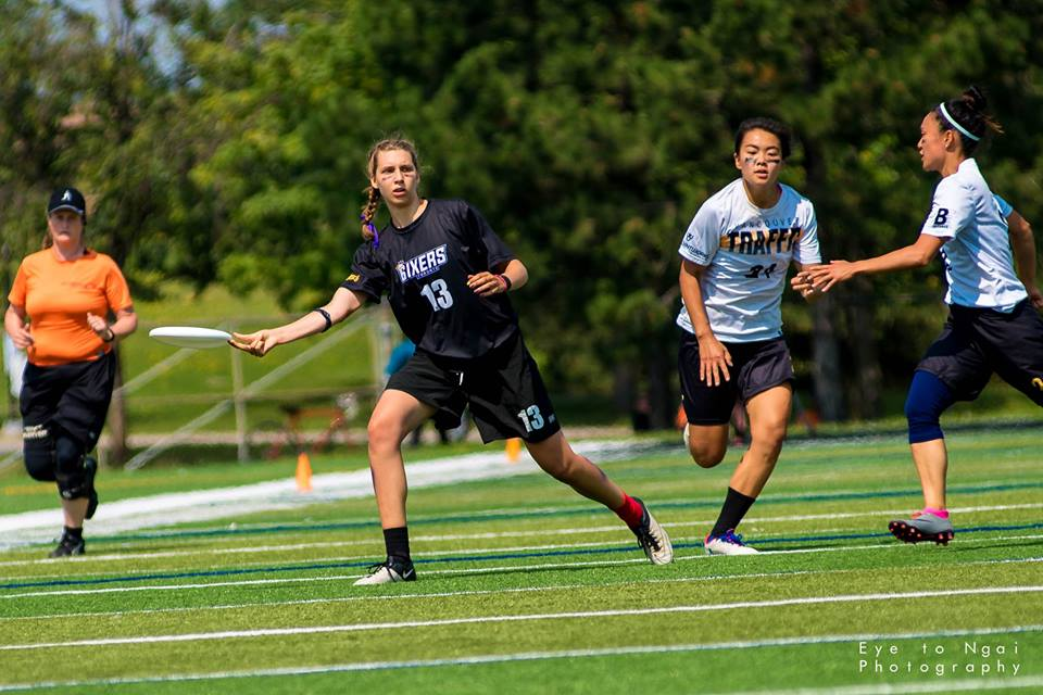Anouchka Beaudry of Toronto 6ixers at 2017 Canadian Ultimate Championships. (PC:  Eye to Ngai Photography )