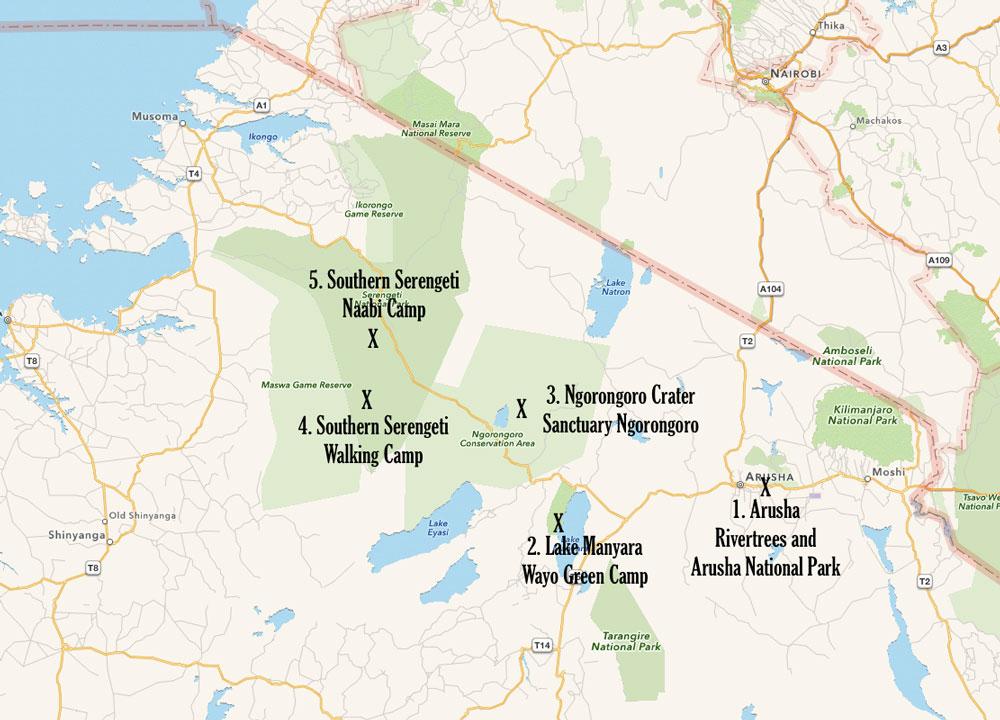 Tanzania Safari Map.png