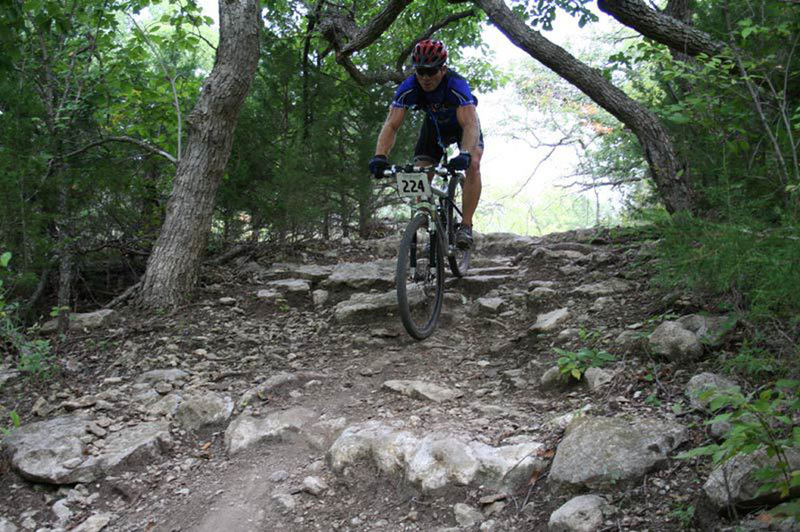 Camp Horizon  - You won't believe you are in Kansas! Approximately 60 miles south of Wichita, the course loop is a grueling 9 miles and features over 1000 feet of climbing and is 90% singletrack.