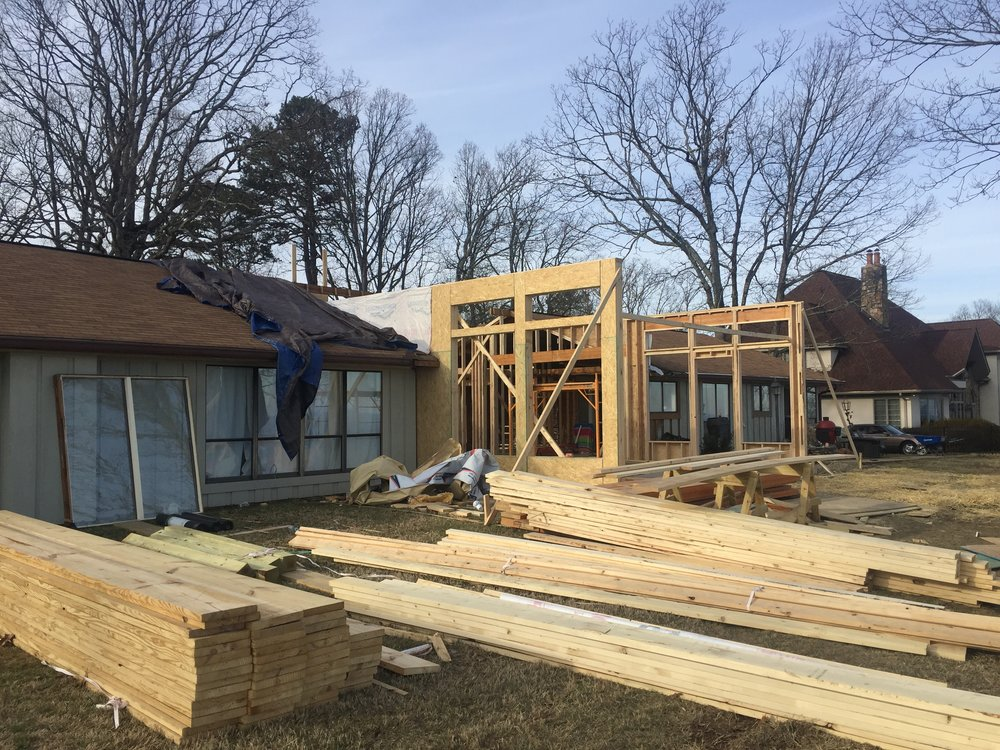 REBUILD: New Walls Where Sunroom Once Stood