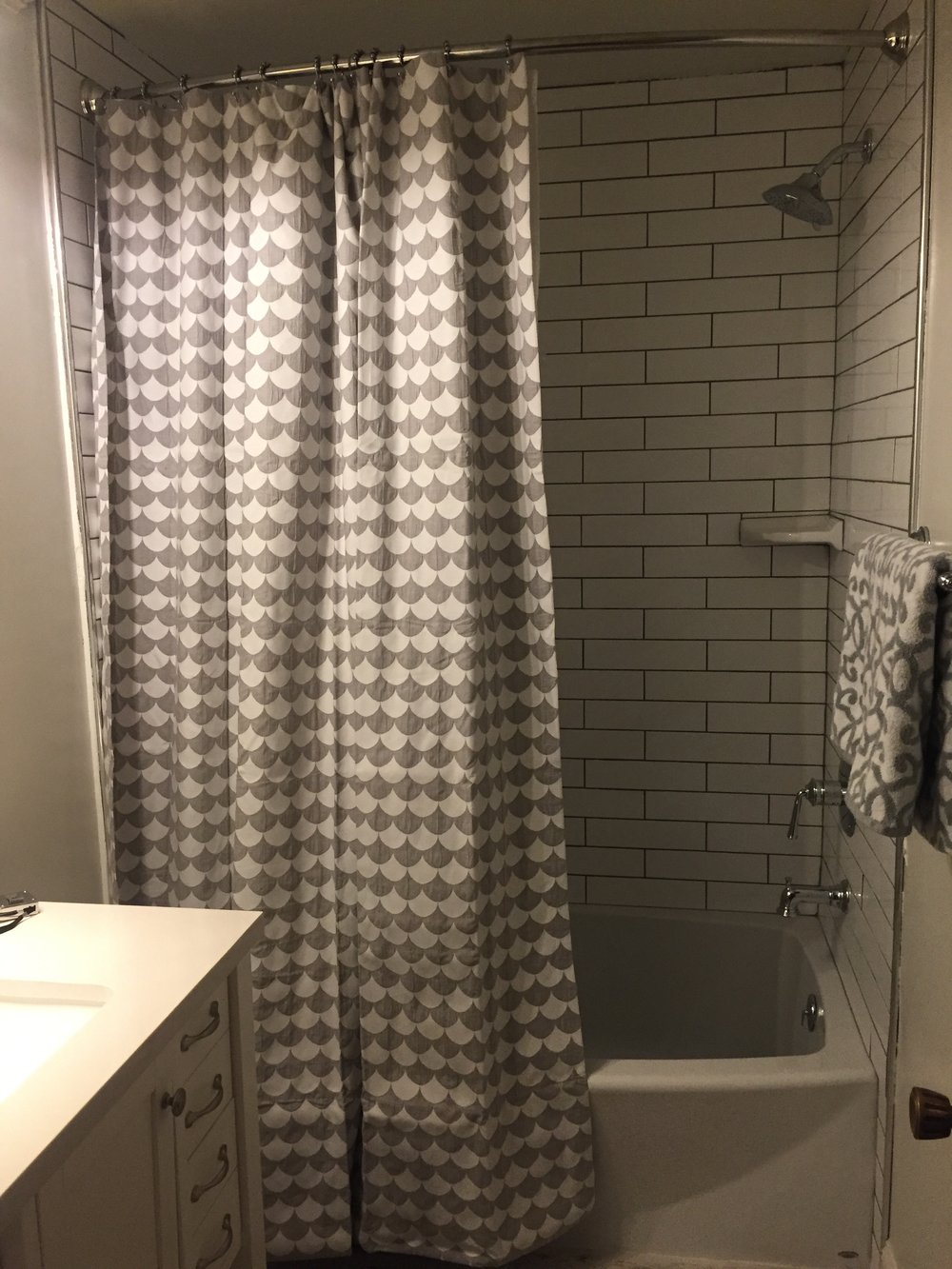HALL BATH: Extra-Long Shower Curtain