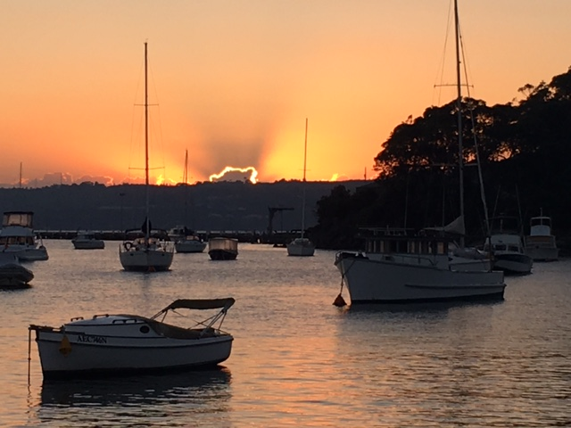 A Sydney sunrise and the start of a brand new day